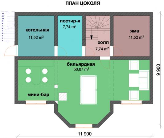 Проект сруба 017 (297 м. кв.)